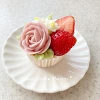 チーズフラワークリームでお花絞り - Sweets Studio Floretta* Flower Cake & Sweets Class@SHIGA