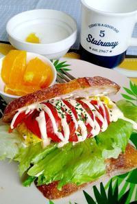 ジラフのパンで朝サンドウィッチ(陸前原ノ町自衛隊近く) - ミゼットカフェ