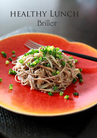 Healthy えのき&お蕎麦のパスタ♪ - at the table