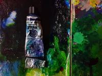 青い油絵の具 - スズキヨシカズ幻燈画室