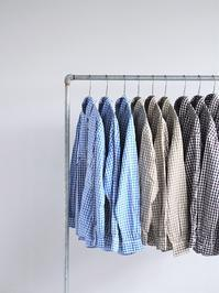 Porter ClassicROLL UP TRICOLOR GINGHAM CHECK SHIRT - 『Bumpkins putting on airs』