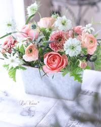 Basic4月 『Garden arrangement』 - Le vase*  diary 横浜元町の花教室