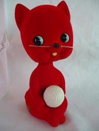 レトロ赤いネコの首振り貯金箱 - Kawaiimono39's Blog