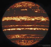 ジェミニ天文台の口径8mの大望遠鏡が赤外線で捉えた木星の最新画像 - 秘密の世界        [The Secret World]