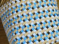 別のものだけど、同じ石畳編みのかご、できあがり - あれこれ手仕事日記 new!