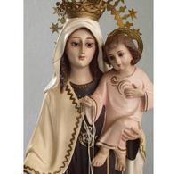 カルメル山の聖母子像 50.5cm/H13 - Glicinia 古道具店