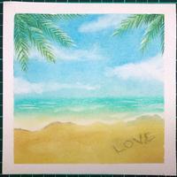 写真を見ながらラフな気持ちで砂浜を描いてみました - デザインのアトリエ絵くぼ