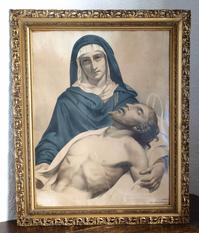 ピエタ 悲しみの聖母マリア  A. PINGOT 額入りリトグラフ  /H060 - Glicinia 古道具店