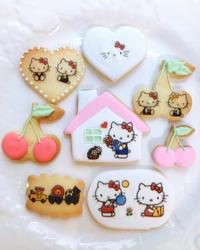 キティちゃんクッキー - 調布の小さな手作りお菓子教室 アトリエタルトタタン