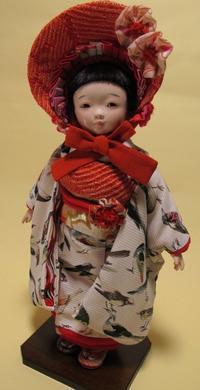 【光環と明咲の展覧会】明咲の10号市松さん♪ - 市松人形師~只今修業中
