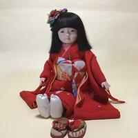 【光環と明咲の展覧会】光環の12号市松さん(手刺繍のお着物) - 市松人形師~只今修業中