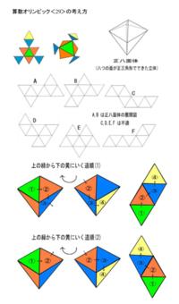 〈29〉正八面体展開図の考え方 - 得点を増やす方法を教えます。困ってる人の手助けします。1p500円より。