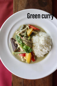旅気分シリーズ、夏野菜と鶏肉のグリーンカレー、Veggyのチカラ - 自家製天然酵母パン教室料理教室Espoir3nさいたま市大宮