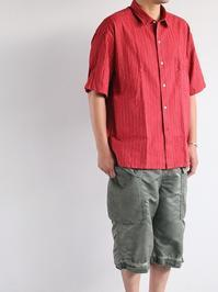 Porter ClassicHAPPY RED SHORT SLEEVE SHIRT - 『Bumpkins putting on airs』