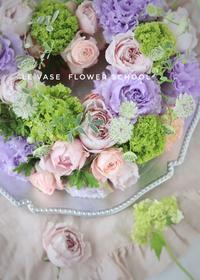 5月living flowerクラス「ハートのアレンジ」 - Le vase*  diary 横浜元町の花教室