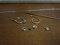 理想のフープピアス制作中 - hiroe  jewelryつくり
