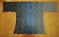 身頃1枚編めました〈オニオン模様ウェア〉 - 空色テーブル  編み物レッスン