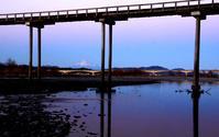 蓬莱橋夕景過去写真から - 長い木の橋