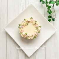 フラワーレアチーズケーキ - Sweets Studio Floretta* Flower Cake & Sweets Class@SHIGA