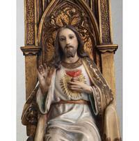 王であるキリスト 坐像  61.5 cm  /H073 - Glicinia 古道具店