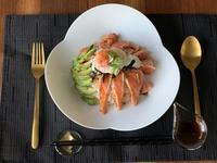 5月31日(日)オンライン料理教室 「炙りサーモンと温泉たまごでちらし寿司」 - 寿司陽子
