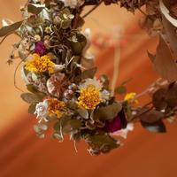 勿論、お花と言えばドライフラワー作り「そして新作リース!!」編 - ドライフラワーギャラリー⁂ふくことカフェ