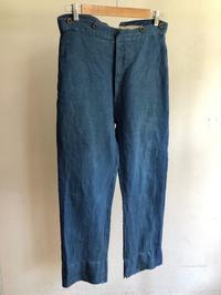 HBT  Indigo Linen Fireman Trousers. - DIGUPPER BLOG