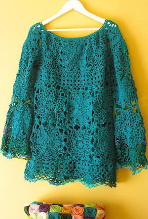 毛糸で編んだレース服 - DIY・・・気まま生活