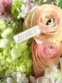 カッパープレート体とタイピン☆美しいお花建物の絵 - 風の家便り