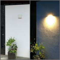 玄関の照明 - 喜多方市に移り住んで