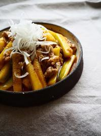 ズッキーニの肉きんぴら - Kitchen diary
