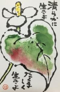清らかな花♪♪ - NONKOの絵手紙便り