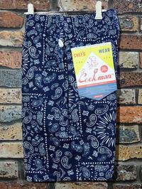 Cookman クックマン ルーズフィット イージー ショートパンツ (Paisley)bandana カラー:ネイビー 4,290円(内税) 再入荷 - ZAP[ストリートファッションのセレクトショップ]のBlog