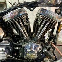 昭和65年製スプリンガーソフテイルのエンジンばらし! - ウエスティー、味な店、ハーレー日記