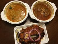 ラムカレー@インドの恵み - よく飲むオバチャン☆本日のメニュー