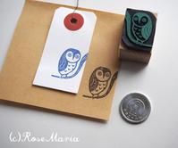 フクロウのはんこ - RoseMariaのスタンプとポスターブログ