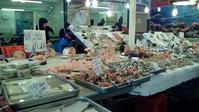 バッラロー市場魚屋さん - バリスタは只今シエスタ