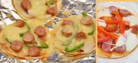 餃子の皮のピザと、やっと美味しくできたホームベーカリーのピザ/長女のいちご飴/お昼寝タイム(ジュウシマツ) - DOUBLE RAINBOW