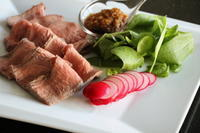 6月6日(日)オンライン料理教室 「超簡単ローストビーフを柚子胡椒オニオンソースで」 - 寿司陽子