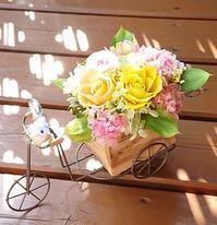 可愛い自転車アレンジ☆ - お花とマインドフルネスな時間 ~花工房GreenBell~