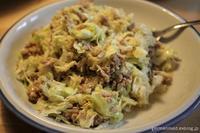 キャベツ&挽き肉サラダ - 黒い森の白いくまさん