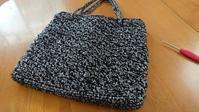 好きなサイズのバッグ - 空色テーブル  編み物レッスン