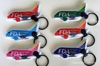 ◆ エアライングッズ・ノベルティ、その2「FDA LEDライト キーホルダー」(2020年6月) - 空とグルメと温泉と