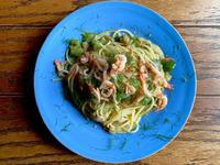 とろ〜り白ナスと桜えびのペペロンチーノスパゲッティ - わっぜ美味しい鹿児島としかぷーレシピ