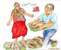 街歩きイラスト「トンガ」Tonga - K e  i  k  o     A  o  i  イ ラ ス ト 日 記
