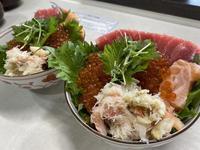 北海道応援! 自宅で豪華蟹いくら丼♪ - リタイア夫と空の旅、海の旅、二人旅
