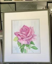 透明水彩でバラを描くRose for Youボルドー - バラのある幸せな暮らし研究所