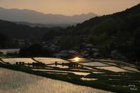 明日香村細川の夕景 - ぶらり記録 2:奈良・大阪・・・