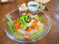 まぐろとサーモンのポキ丼 温玉のせ:Ancook(弘前市) - 津軽ジェンヌのcafe日記
