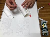 紙の筒を金属にする。 - 大﨑造形絵画教室のブログ